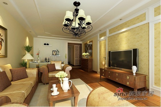 实创装饰欧式品质客厅设计效果图