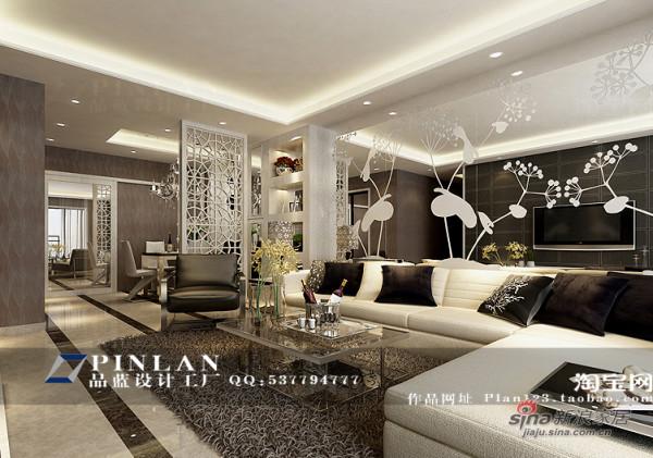 现代豪华风格客厅效果图