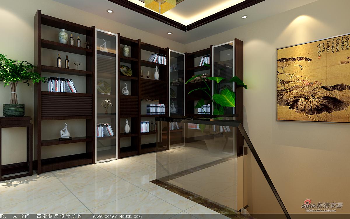 中式 别墅 楼梯图片来自用户1907662981在新中式风格设计84的分享