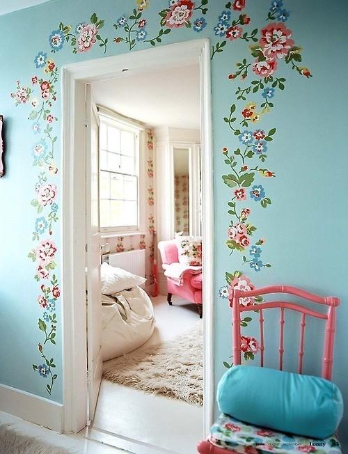 墙上开花,很容易实现的美丽