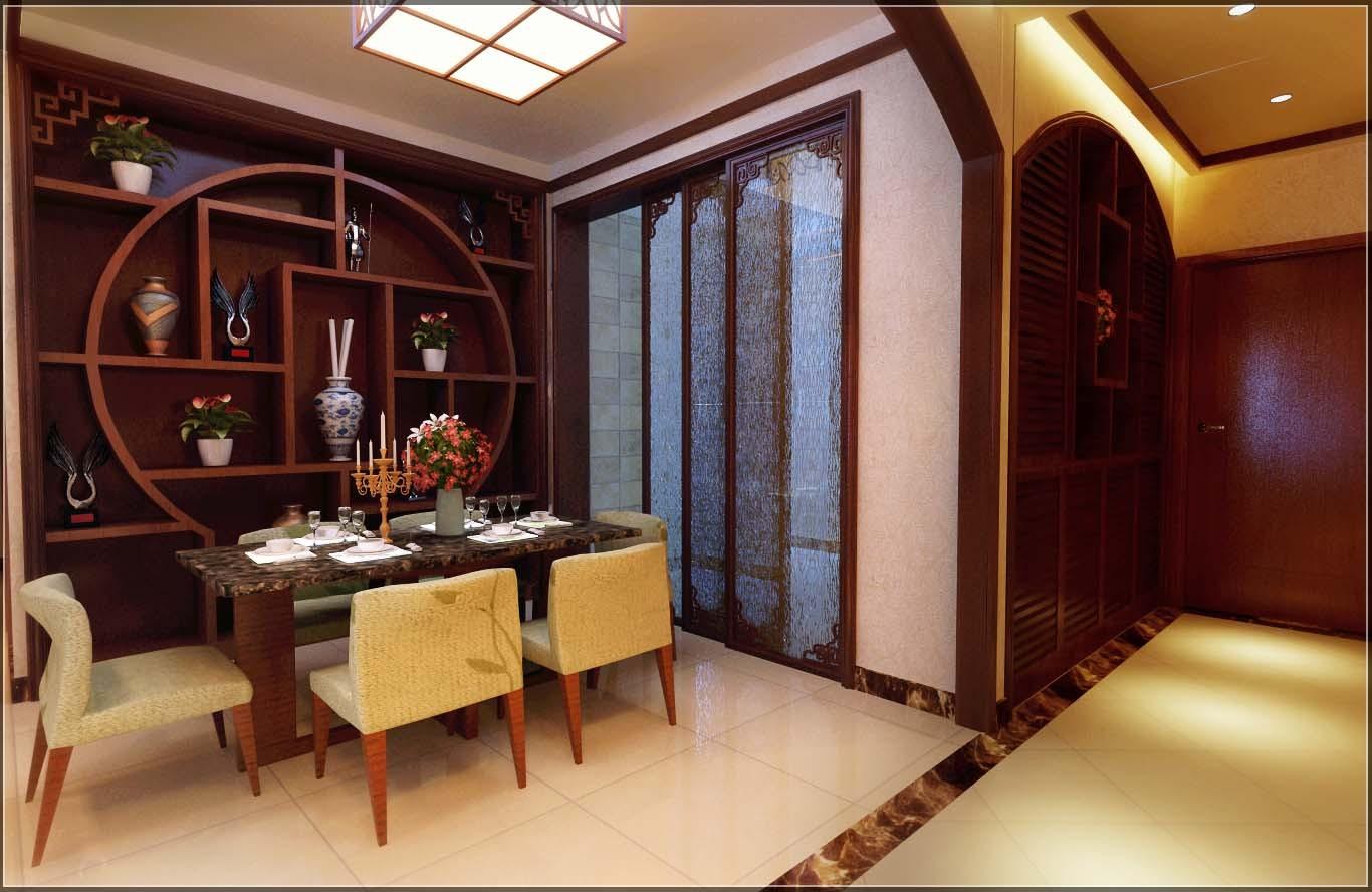 中式 三居 餐厅图片来自用户1907659705在6万精装100平优雅新中式11的分享
