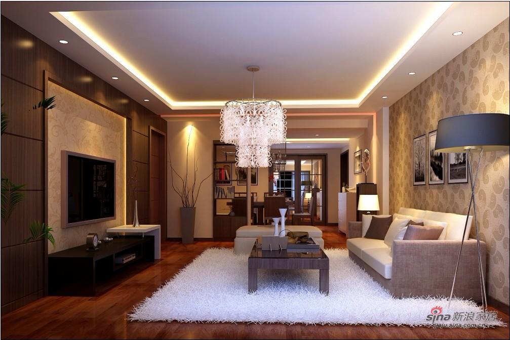 现代 三居 客厅图片来自用户2771250253在8万打造现代风格126平米高档家居22的分享