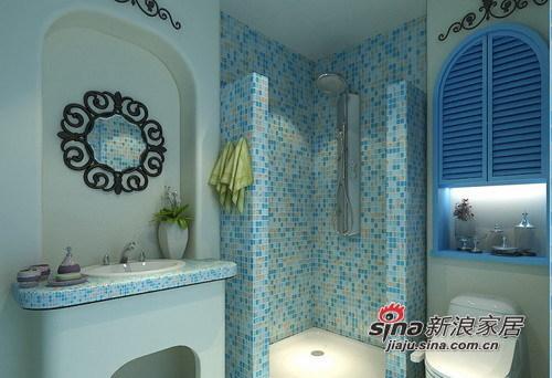 地中海 三居 卫生间图片来自用户2757320995在125㎡蓝白经典浪漫地中海风情3居室80的分享