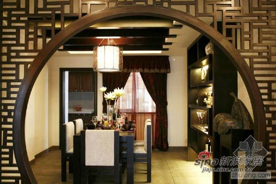 中式 别墅 餐厅图片来自用户1907658205在135㎡肇庆鸿景观园中式样板房30的分享