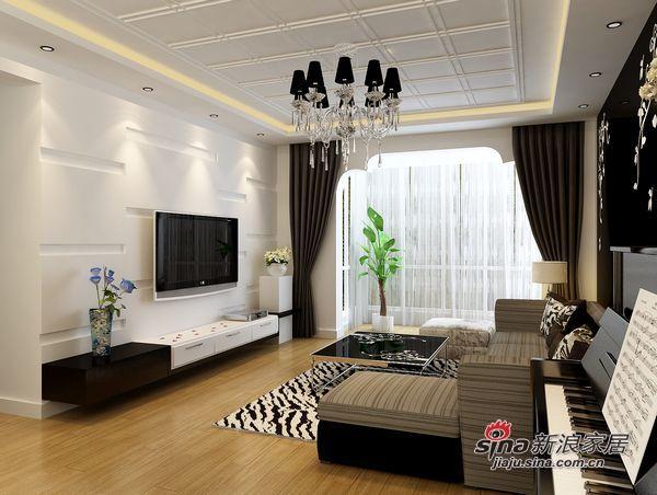简约 三居 客厅图片来自用户2738813661在7.8万铸造现代简约130平三居室爱家72的分享