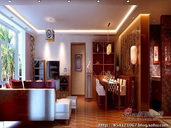 120平米中式三居室舒适爱家
