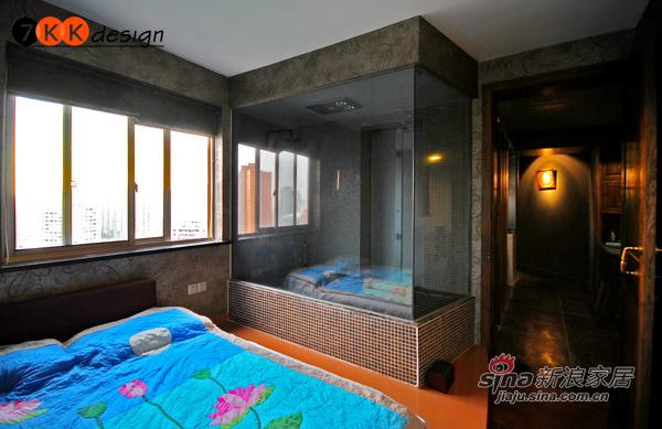 混搭 二居 卧室图片来自用户1907655435在冷灰瑰红打造72平极简loft32的分享