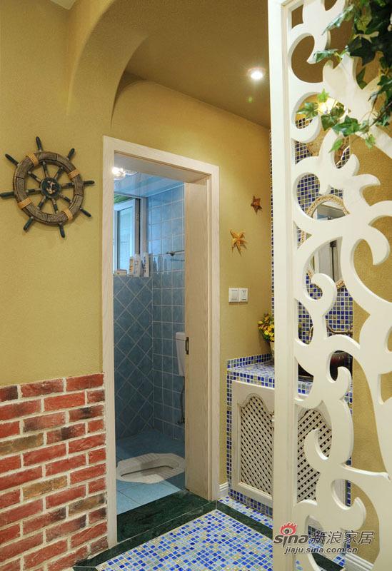 地中海 复式 卫生间图片来自佰辰生活装饰在99平唯美地中海清凉浪漫家44的分享