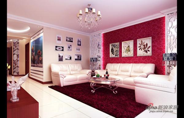 美艳婚房的客厅大气设计