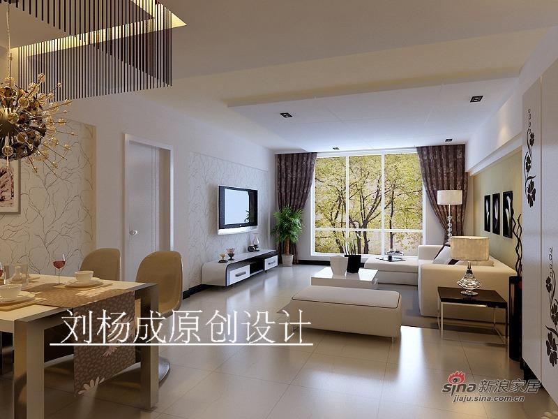 简约 三居 客厅图片来自用户2558728947在华府昂已成简约设计39的分享