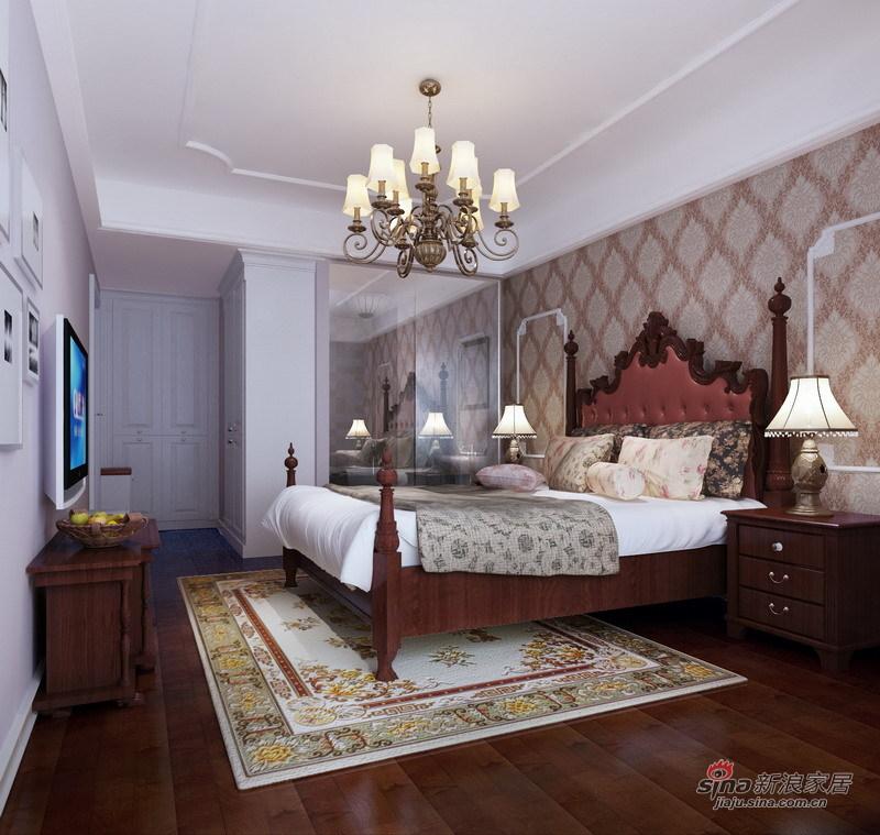 欧式 三居 卧室图片来自用户2746948411在东方太阳城120平绿色典雅简欧式花园洋房66的分享