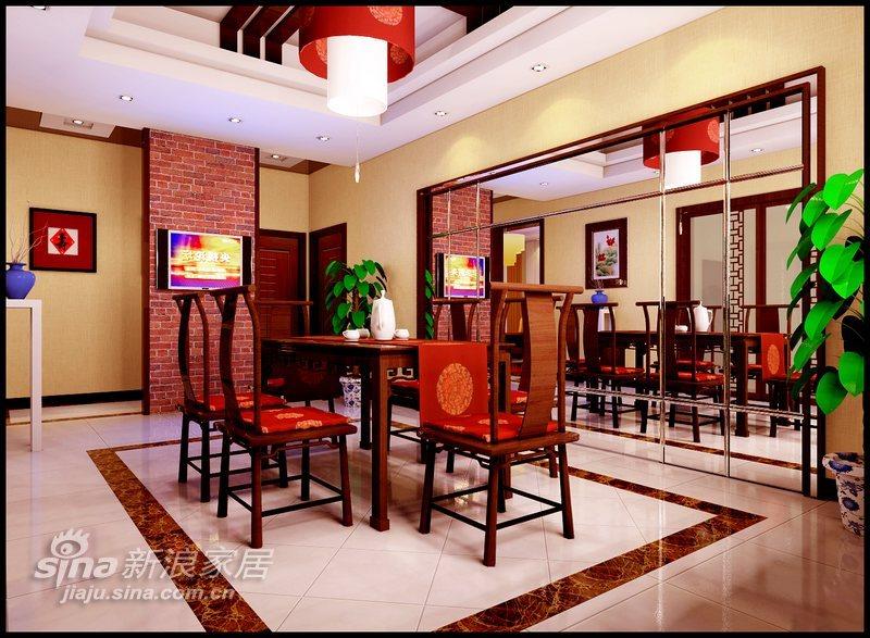 中式 跃层 餐厅图片来自用户2737751153在演绎新中式29的分享