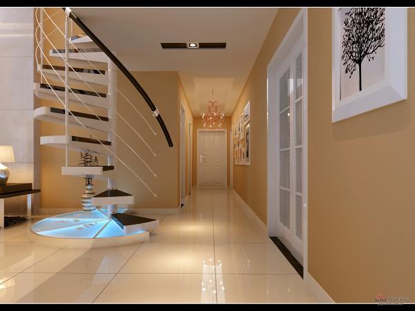 入户门过道及旋转楼梯