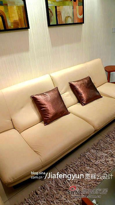 米色真皮沙发极富质感又不乏舒适