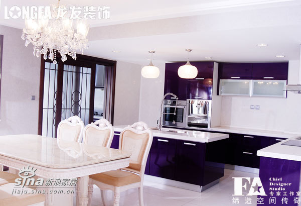 欧式 跃层 厨房图片来自用户2557013183在枫林绿洲样板间96的分享