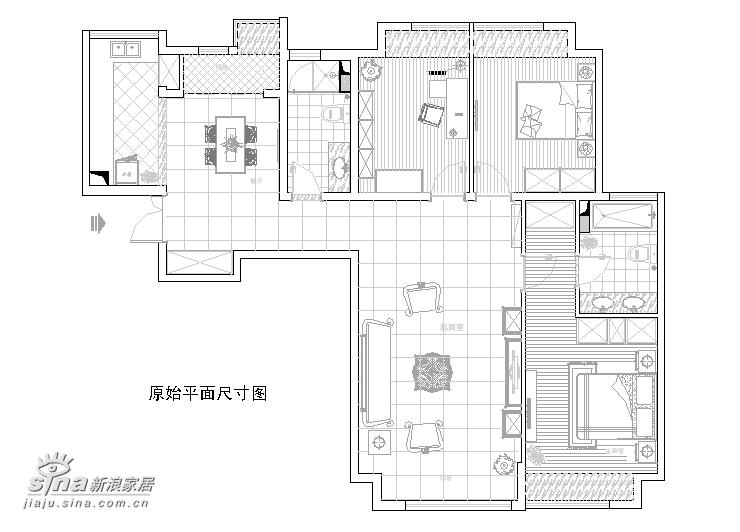 欧式 三居 户型图图片来自用户2745758987在东易日盛-威尔夏74的分享