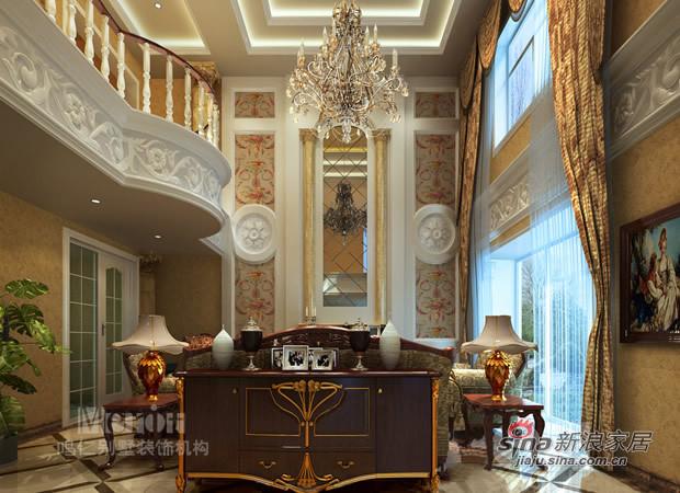 欧式 别墅 客厅图片来自用户2746953981在奢华欧式风专属别墅设计56的分享