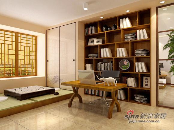 中式 三居 书房图片来自用户1907662981在8万编织126平美丽温馨3居92的分享