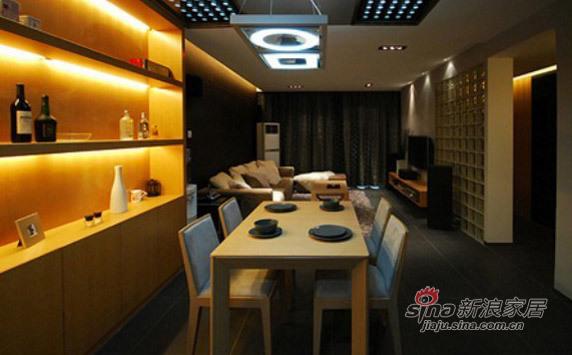 现代 三居 餐厅图片来自佰辰生活装饰在白领光影打造82平现代简约家71的分享