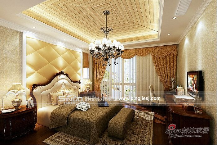 欧式 别墅 卧室图片来自用户2557013183在现代生活的舒适 欧式的典雅与豪华57的分享