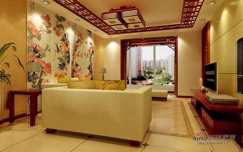 中式 三居 客厅图片来自用户1907662981在7.1万精装150㎡中式古典36的分享