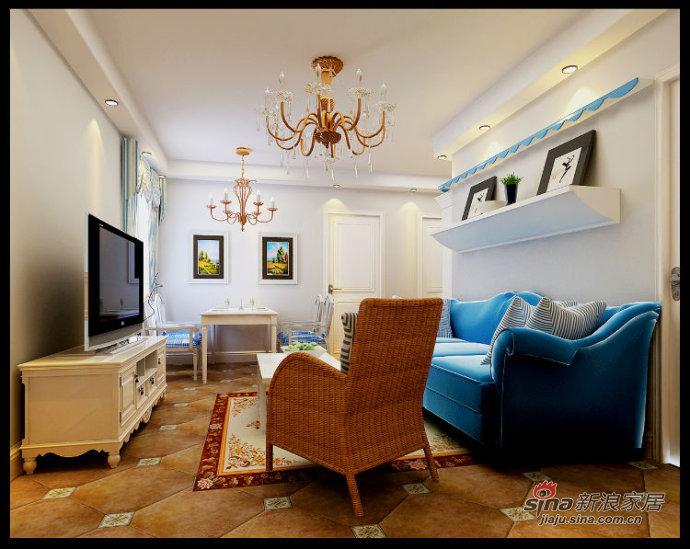 地中海 二居 客厅图片来自用户2757320995在5.4万打造富民河畔家园80平时尚地中海风情19的分享