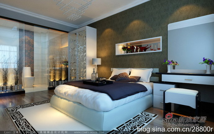 简约 三居 卧室图片来自用户2738820801在140平简约低调奢华3室2厅27的分享