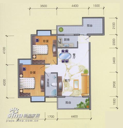简约 二居 户型图图片来自用户2557979841在卧室设计55的分享
