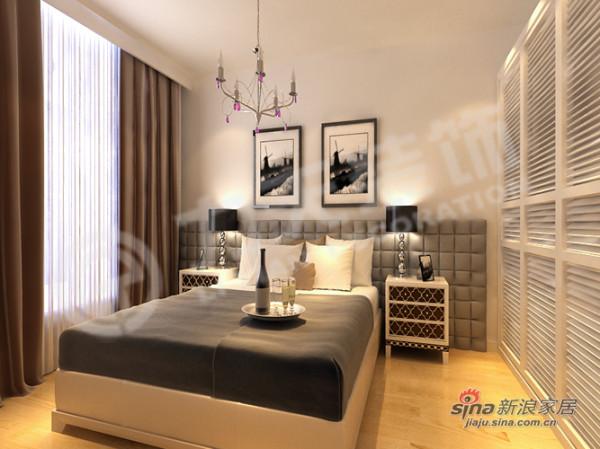 简约 三居 卧室图片来自用户2557010253在125平简约时尚之都38的分享