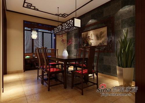 中式 三居 餐厅图片来自用户1907662981在10万创意中韵生活美居49的分享