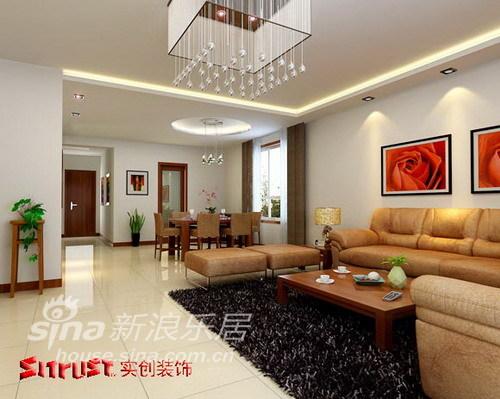 简约 三居 客厅图片来自用户2557979841在120平简洁大方而舒适三居室48的分享