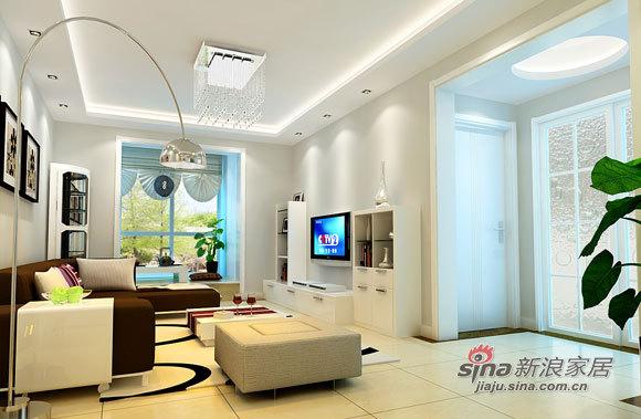 简约 二居 客厅图片来自用户2738845145在5.8万现代80平简约2居婚房72的分享