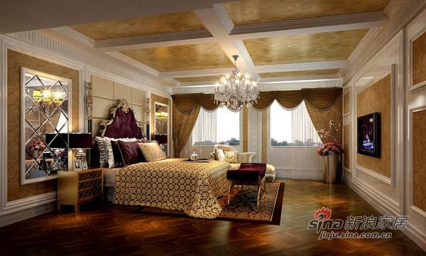 欧式 别墅 卧室图片来自用户2746889121在150平欧式古典主义时尚别墅24的分享