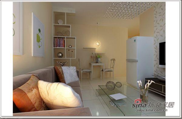 简约 二居 客厅图片来自用户2738820801在仅需2万装80后现代小2居87的分享