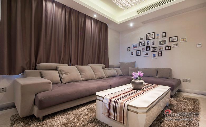 简约 二居 客厅图片来自装修微日记在【高清】10万装85平简约时尚婚房62的分享
