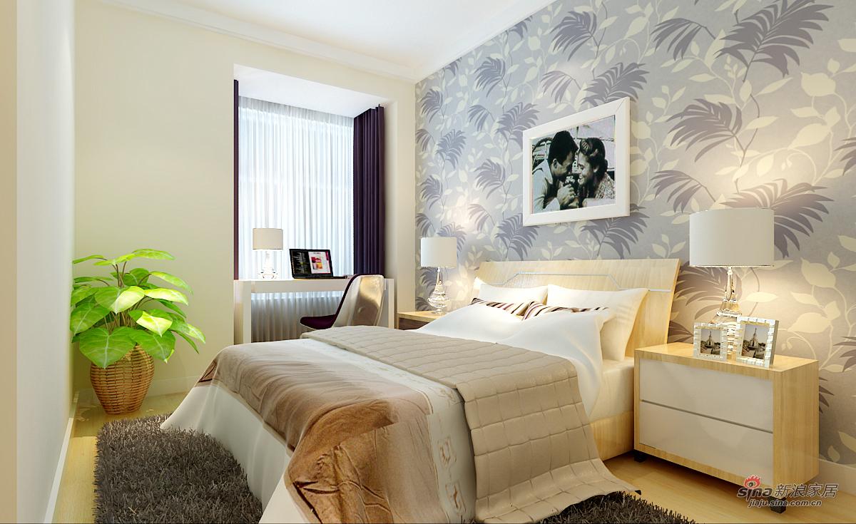 """简约 一居 卧室图片来自用户2557010253在屌丝女-""""灵魂""""和""""精髓""""的50平黑白灰空间62的分享"""