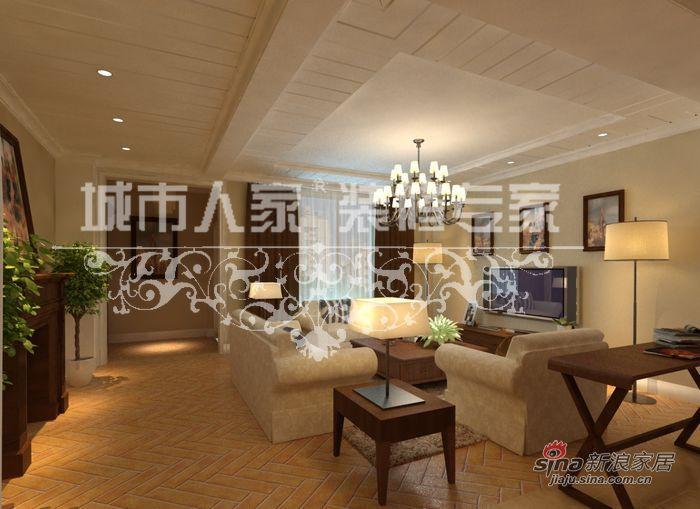美式 别墅 客厅图片来自用户1907686233在美式田园别墅案例33的分享