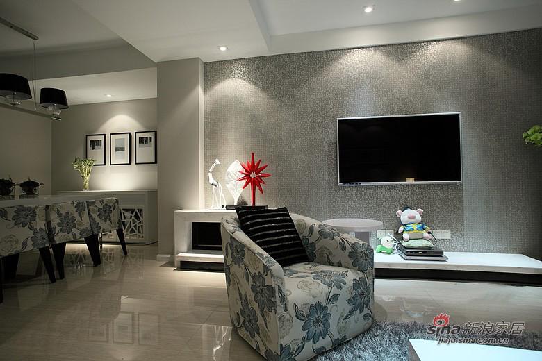现代 二居 客厅图片来自佰辰生活装饰在【高清】13万装87平现代低奢素雅两居53的分享