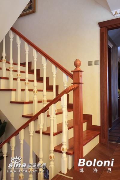 简约 别墅 楼梯图片来自用户2556216825在达观别墅24的分享