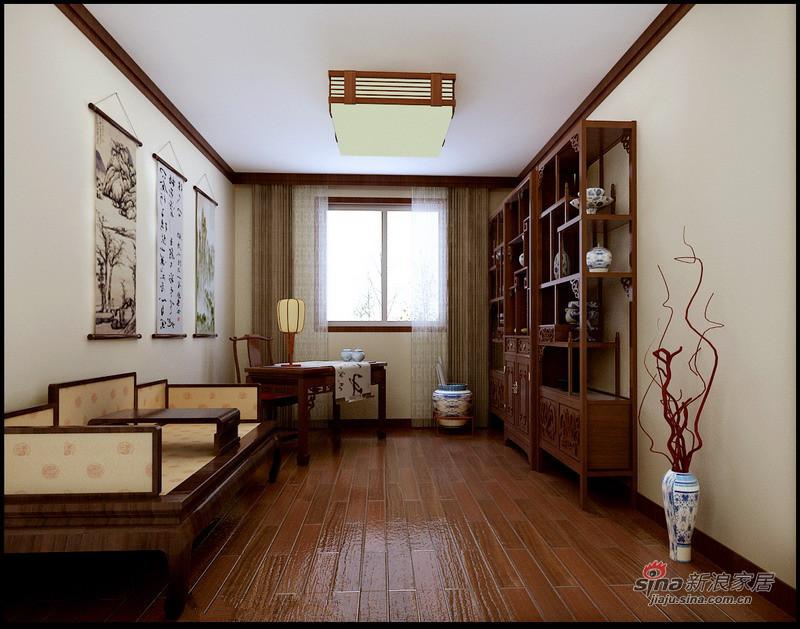 中式 三居 书房图片来自用户1907696363在130平静谧优雅古典中式三居花8万16的分享