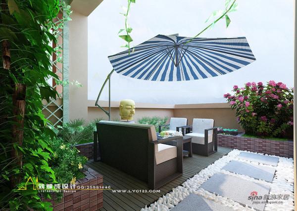 河南蓝湾新城复式楼空中花园设计 (鹅卵石