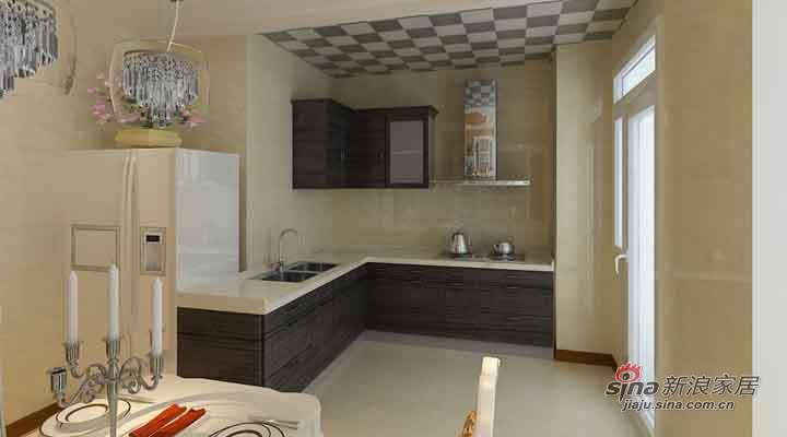 欧式 三居 厨房图片来自用户2757317061在14万打造大正莅江189平简欧三居室87的分享