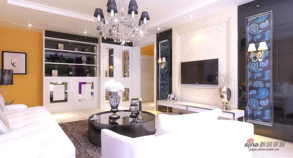 108平现代欧式两居室