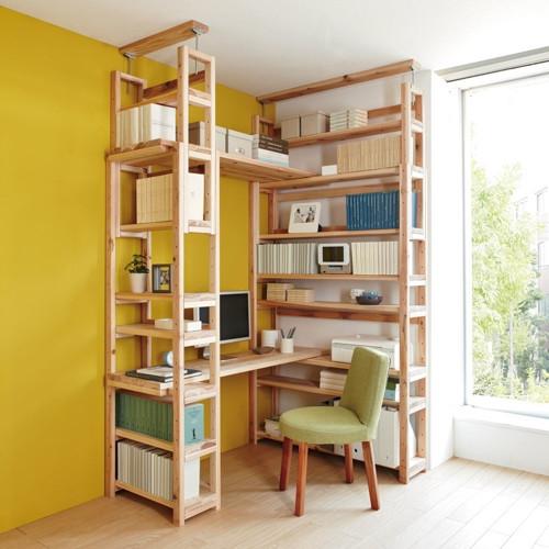 收纳,书房,电脑桌一体,设计强!