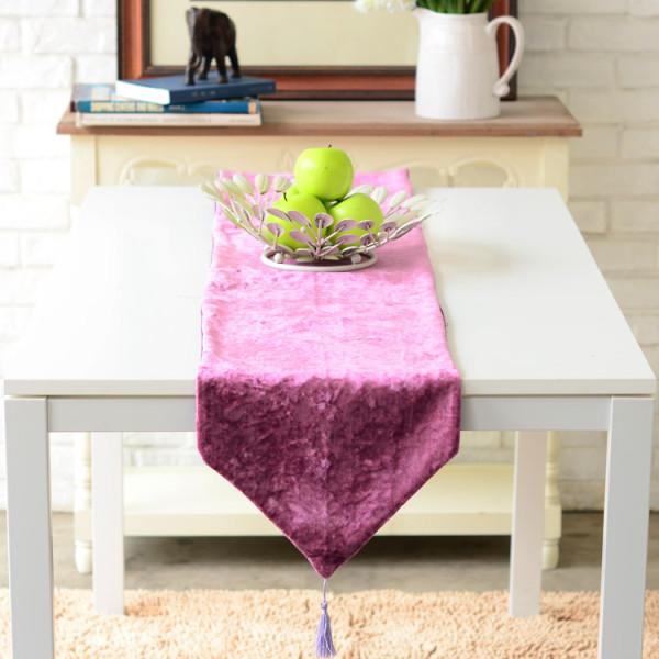桌布桌旗台布餐桌布茶几布 丝绒