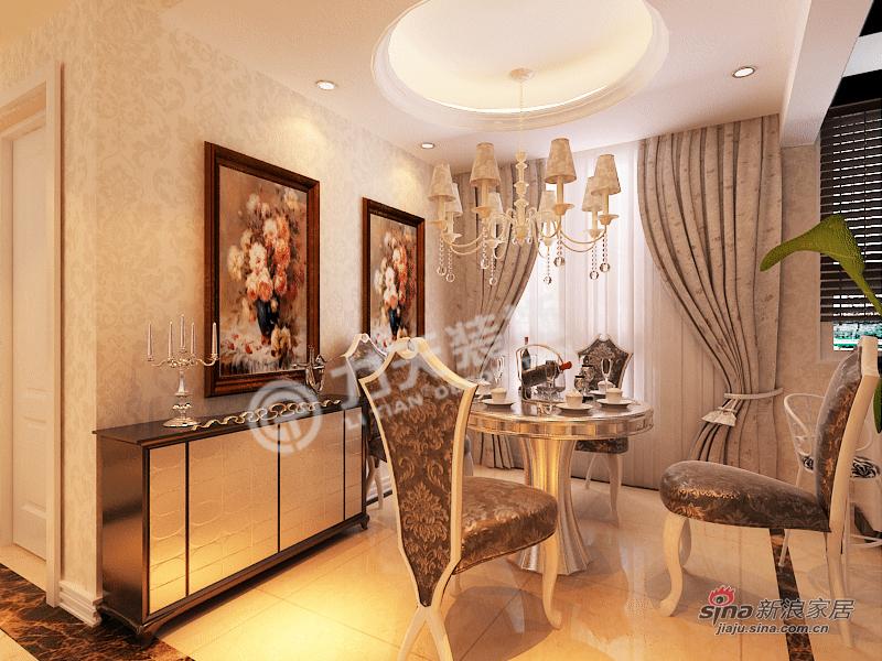 欧式 二居 餐厅图片来自阳光力天装饰在雅诗兰亭-两室一厅一厨一卫-简欧风格25的分享