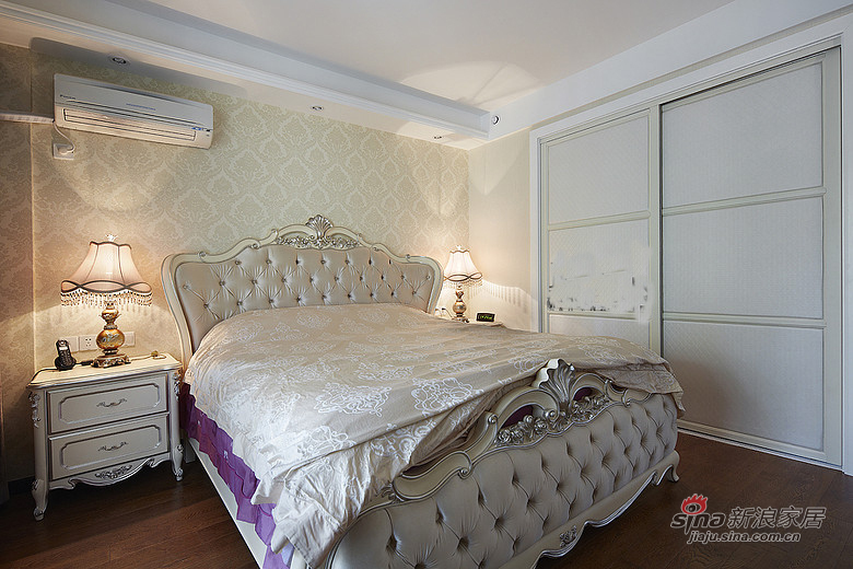 混搭 三居 卧室图片来自装修微日记在【高清】165平后现代古典混搭时尚3居室17的分享