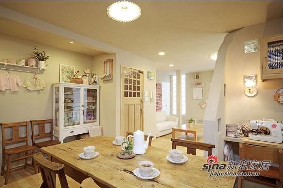 美式 三居 餐厅图片来自用户1907686233在房奴夫妻7.3万2房改3房88的分享