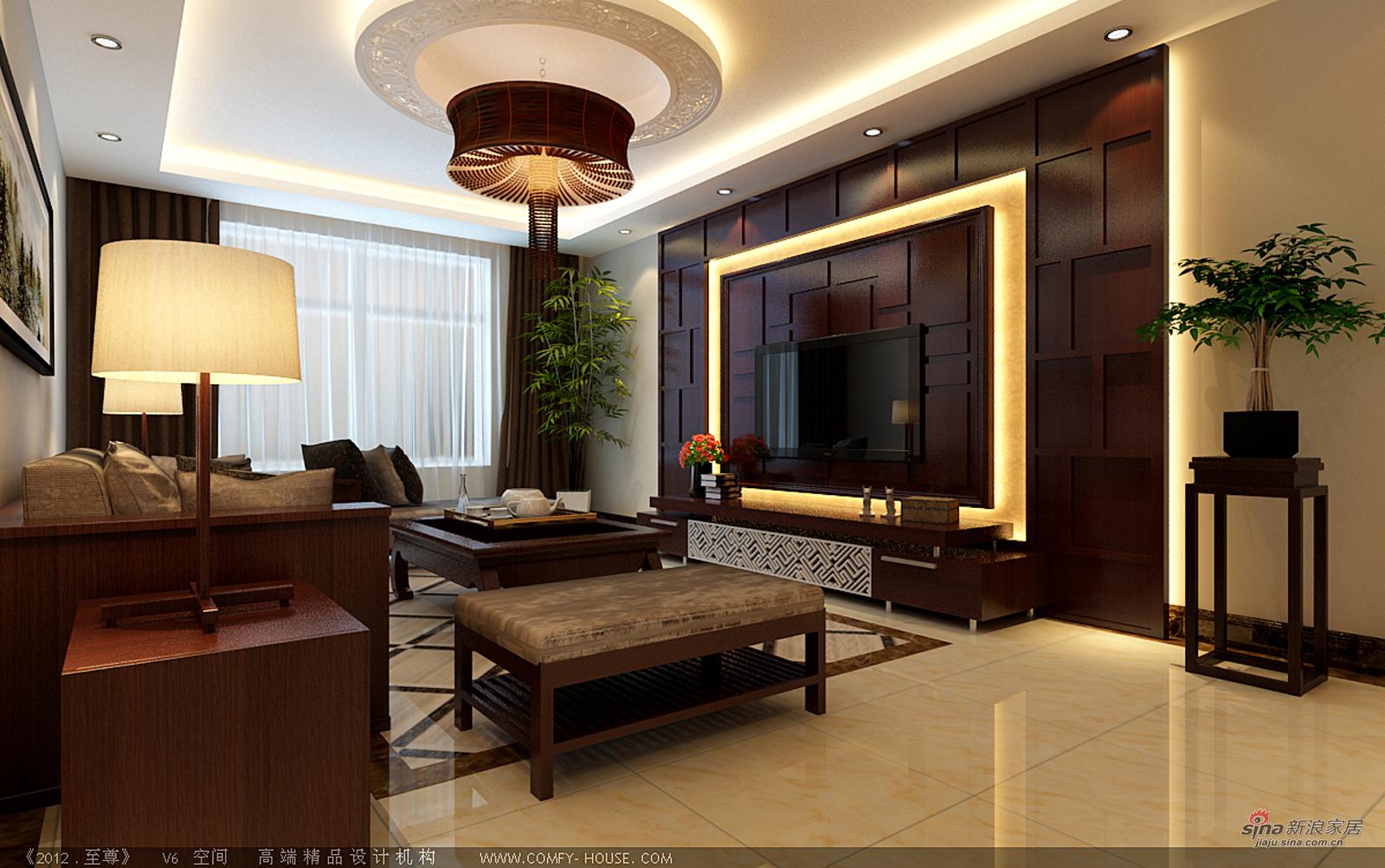 中式 三居 客厅图片来自用户1907659705在146平幸福时代装修传统中透