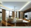 140平现代简约风格错层客厅设计1